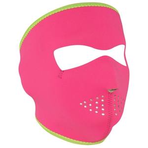 FULL FACEMASK Pink/Lime Reversible