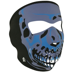 FULL FACEMASK Blue Chrome Skull