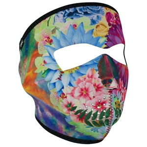 FULL FACEMASK Flower Skull