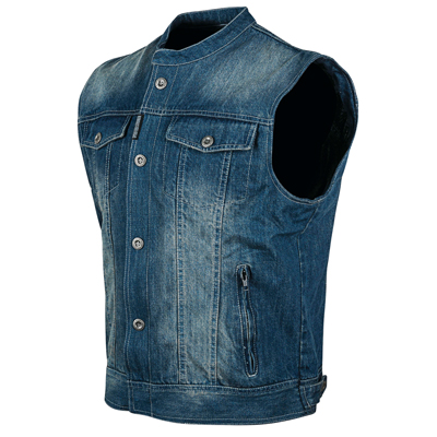 SOUL SHAKER DENIM VEST BLUE