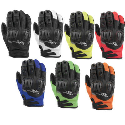 Power and the Glory Leather-Mesh Gloves
