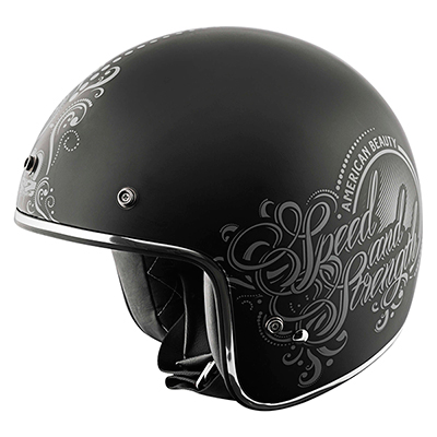 SS600 AMERICAN BEAUTY HELMET Matte Black