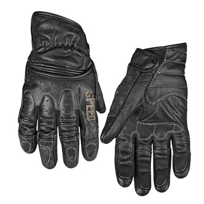 RUST AND REDEMPTION LEATHER GLOVES Black