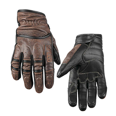 RUST AND REDEMPTION LEATHER GLOVES Brown