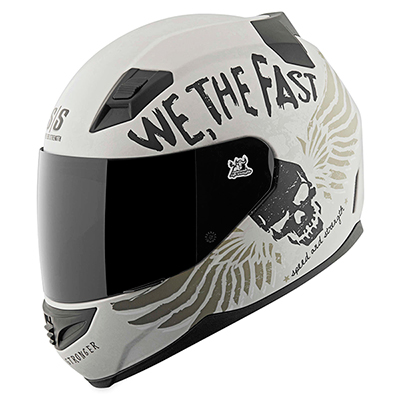 SS1200 WE THE FAST HELMET Matte White