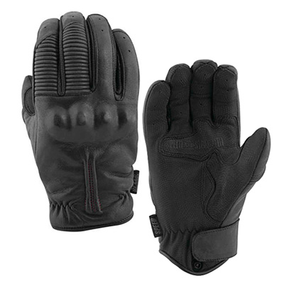 THE QUICK AND THE DEAD LEATHER GLOVES Black