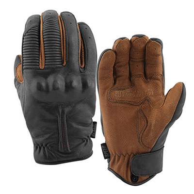 THE QUICK AND THE DEAD LEATHER GLOVES Black&Tobacco