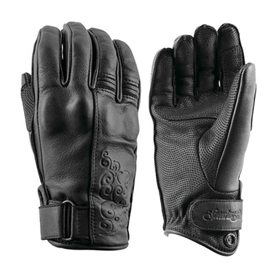 BLACK HEART LEATHER GLOVES