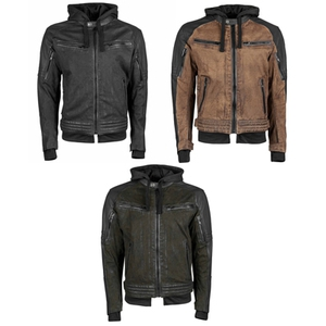 Straight Savage Leather-Canvas Jacket
