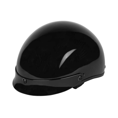 Cheater .50 Half Helmet Gloss Black