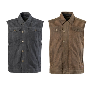 Ramone Perforated Waxed Cotton Vest