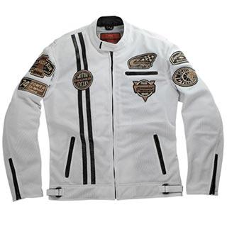 メンズメッシュジャケット(ホワイト)