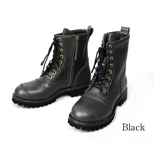 DEGNER シフトガード付レザーZIPブーツ/LEATHER ZIP BOOTS WITH SHIFT GUARD [HS-B12]
