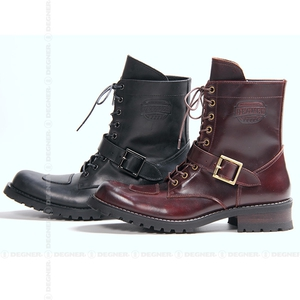 DEGNER シフトガード付レザーZIPブーツ/LEATHER ZIP BOOTS WITH SHIFT GUARD [HS-B7]