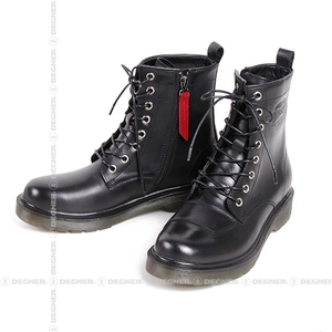 DEGNER レディースシフトガード付レザーZIPブーツ/LEATHER ZIP BOOTS WITH SHIFT GUARD [HS-B8]