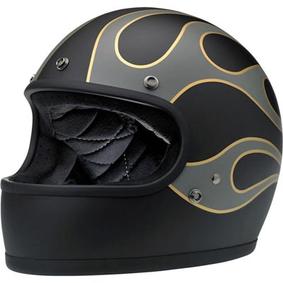 GRINGO HELMET - LE FLAMES BLACK/GREY