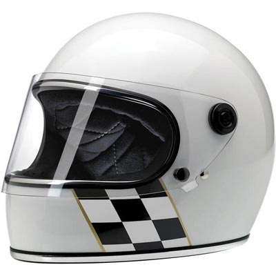 GRINGO S HELMET - LE CHECKER STRIPE WHITE
