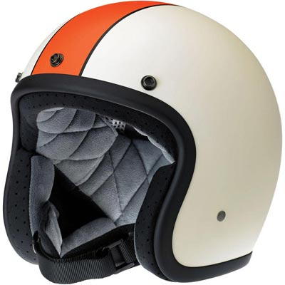 BONANZA HELMET - LE RACER FLAT CREAM/ORANGE