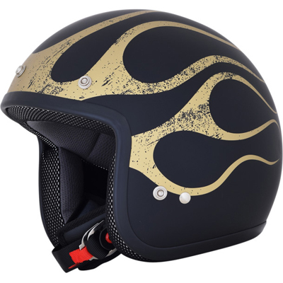 BLACK/GOLD FLAME FX-75
