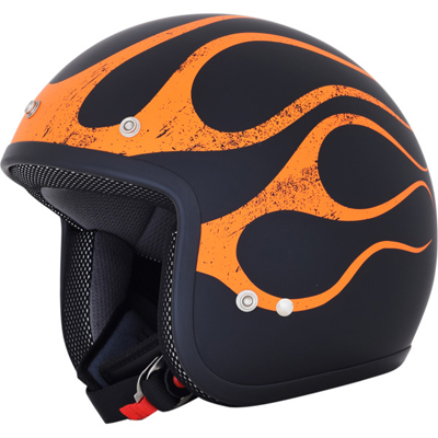 BLACK/ORANGE FLAME FX-75