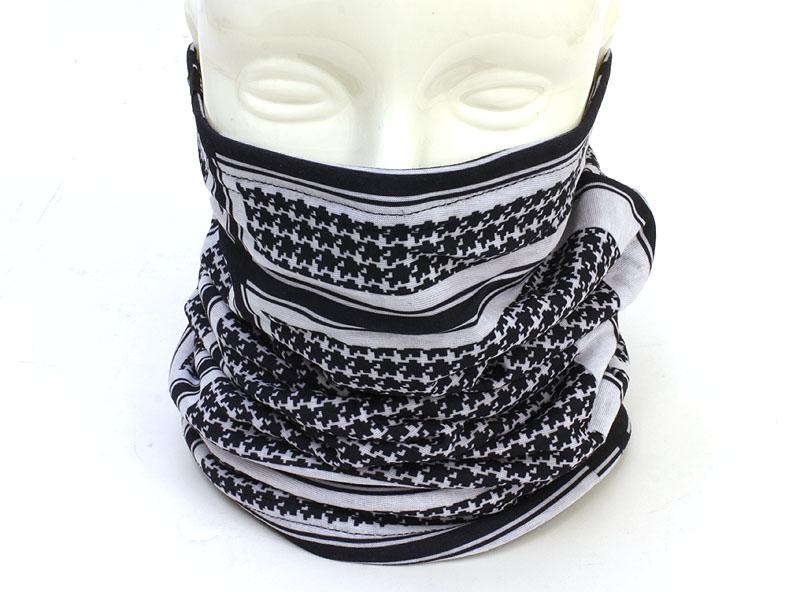 Zan Headgear Houndstooth Black and White Fleece-Lined Motley Tube One Size