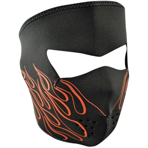 FULL FACEMASK Orange Flame