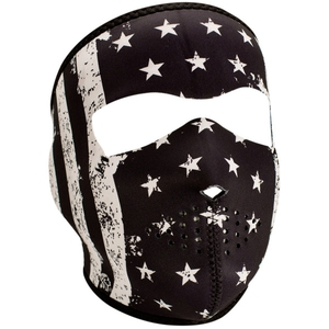 FULL FACEMASK Black and White Vintage Flag