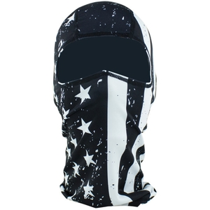 BALACLAVA Polyester Black/White Flag