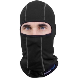 COOLSKIN BALACLAVA Black w/White Stitching