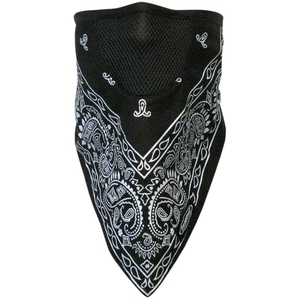 FACEFIT FACEMASK Black Paisley