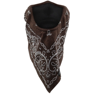 FACEFIT FACEMASK Brown Paisley