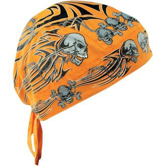 FLYDANNA Orange Tribal Skull