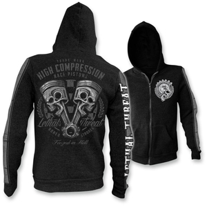 Black High Compression Zip-Front Hoody