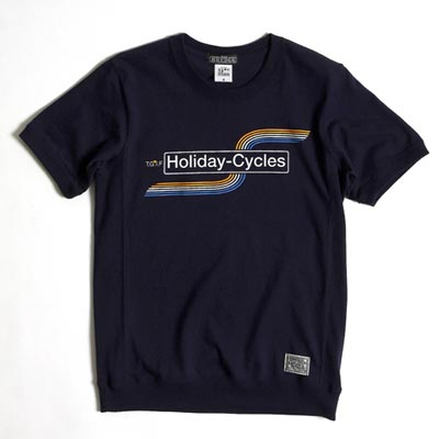 GARAGE Tshirt HOLIDAY-CYCLES ネイビー