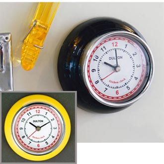 Kitchen clock with magnet