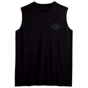 Sleeveless Bar&Shield Tee