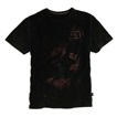Short Sleeve Tee Flont Print Black