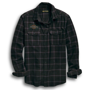 High Density Slim Fit Plaid Shirt