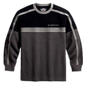 Long-Sleeve Knitshirt Colorblock