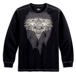 Long-Sleeve KnitShirt with Large Graphics