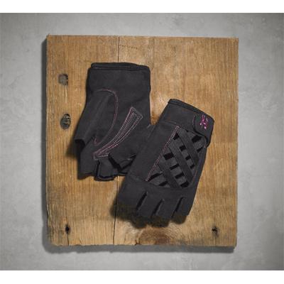 Trellis Criss-Cross Fingerless Gloves