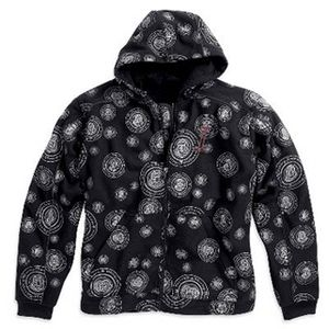 Circle Point Hooded Windproof Fleece