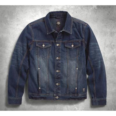 Brushed Denim Slim Fit Trucker Jacket