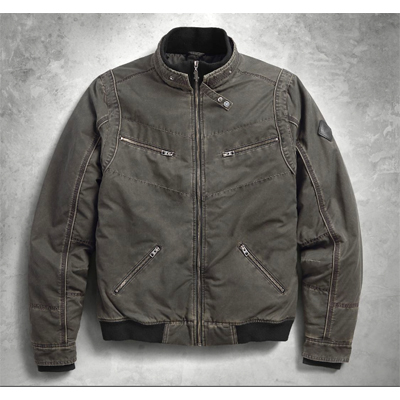 Quilted Lining Slim Fit Bomber Jacket