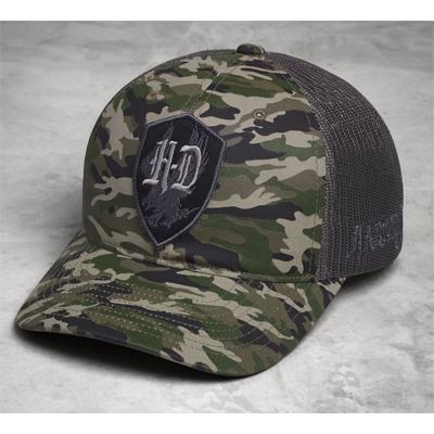 H-D Patch Camouflage Trucker Cap