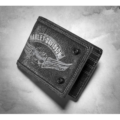 Winged Skull Bi-Fold Wallet