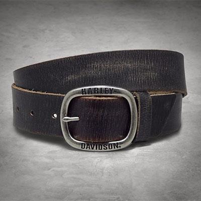 Black Distressed Belt