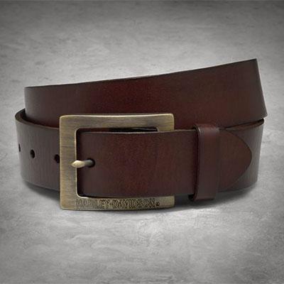 Brass Buckle Distressed Belt