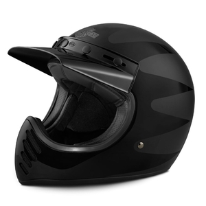 Stinger B14 Full-Face Helmet - Black