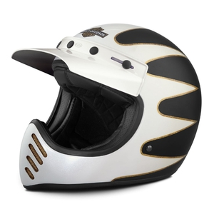 Stinger B14 Full-Face Helmet - White